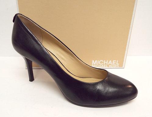 MICHAEL KORS Black Leather Round Toe Pump 9.5