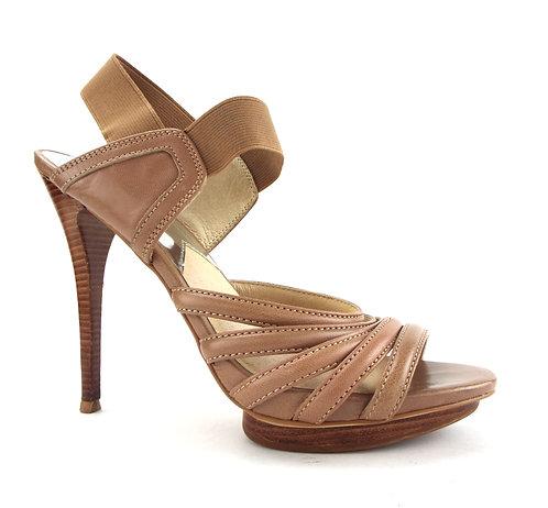 MICHAEL KORS Brown Ankle Strap Heels Sandal 7.5
