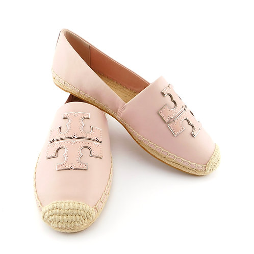 TORY BURCH Size 9 INES Shell Pink Espadrille Loafers Shoes