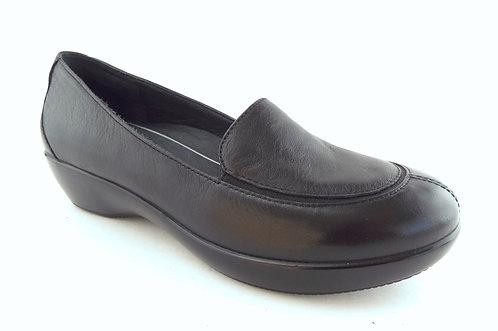 DANSKO Black Leather Loafer Flats 38