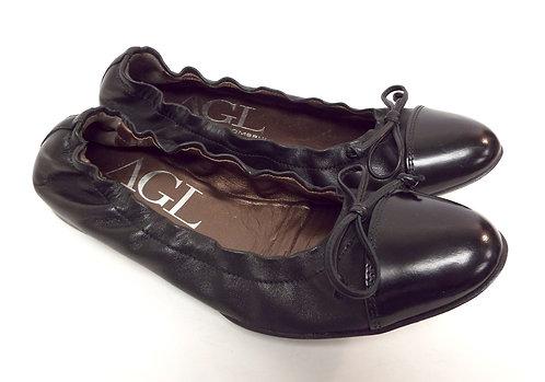 Attilio Giusti Leombruni AGL Black Ballet Flat