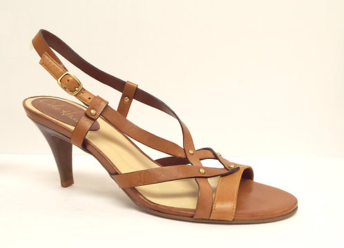 COLE HAAN Tan Brown Natural Leather Sandal 9