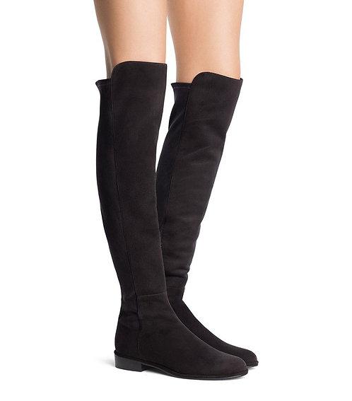 STUART WEITZMAN Black Suede OTK Boots 7.5