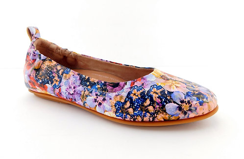FITFLOP Wild Flower Leather Ballerina Flats 7