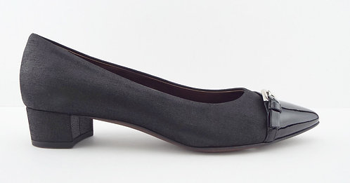 AGL Black Belted Block Heel Pumps 39.5