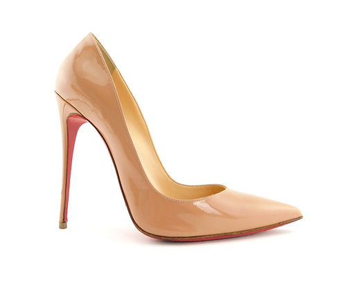Christian Louboutin Nude So Kate Patent Pumps 40