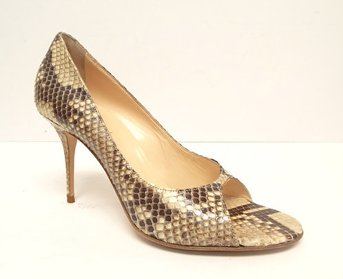 COLE HAAN COLLECTIONS Snake Open Toe Pump 8.5