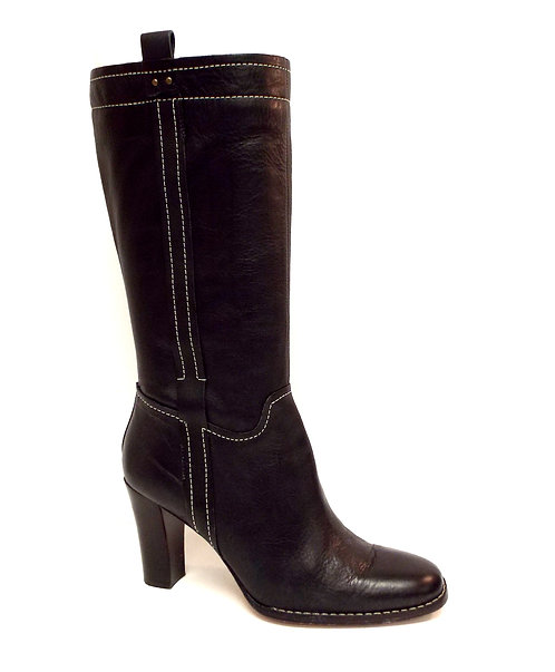 ANNE KLEIN of New York Black Leather Boot 8.5