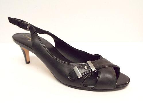 COLE HAAN Black Leather Slingback Sandal 9 AA