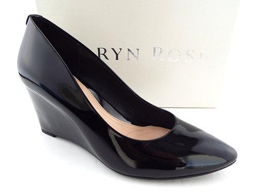 TARYN ROSE Black Soft Patent Wedges Pumps 8.5