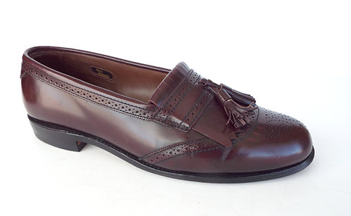 ALLEN EDMONDS BRIDGETON Burgundy Fringe Tassel Loafer 10