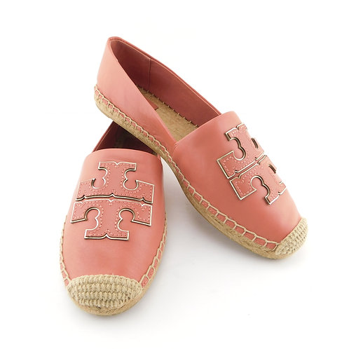 TORY BURCH Size 8.5 INES Dust Rose Espadrille Loafers Shoes
