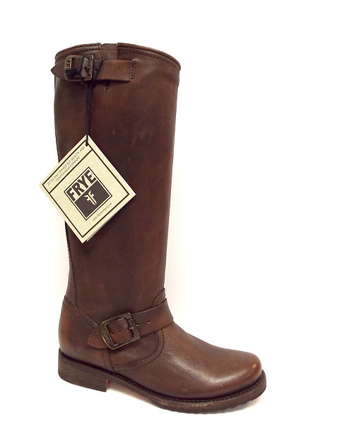 FRYE VERONICA SLOUCH Dark Brown Leather Boot 6