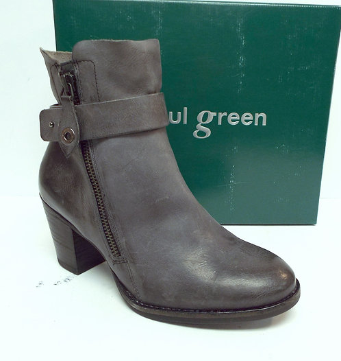 PAUL GREEN DALLAS Gray Leather Ankle Boot 6(UK 3.5)