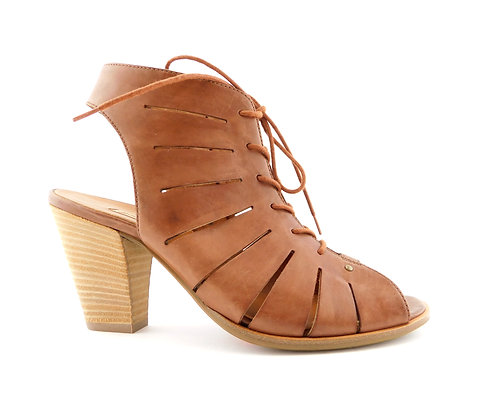 PAUL GREEN Brown Caged Cosmo Bootie Sandal 6UK/8.5US