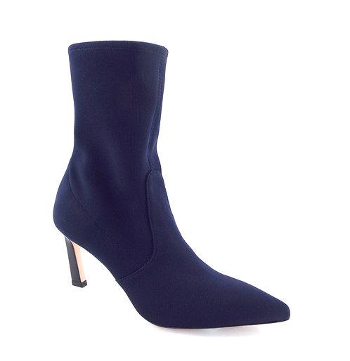Stuart Weitzman Blue Knit Sock Ankle Boots 8.5