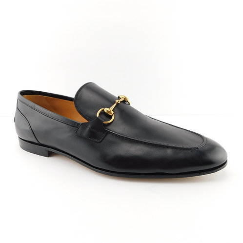 GUCCI Size 12.5 UK / 13.5 US JORDAAN Black Leather Horse Bit Loafers