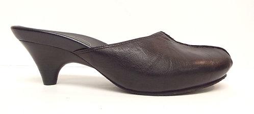 COLE HAAN G SERIES Black Leather Mule Slide 5.5