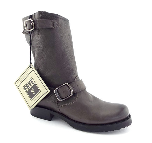 FRYE Smoke Gray Slouch Leather Booties 6.5