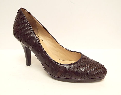 COLE HAAN Brown Nike Air Woven Leather Pump