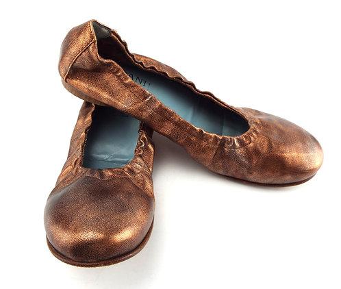 CORDANI Copper Metallic Ballet Flat 40 / 9