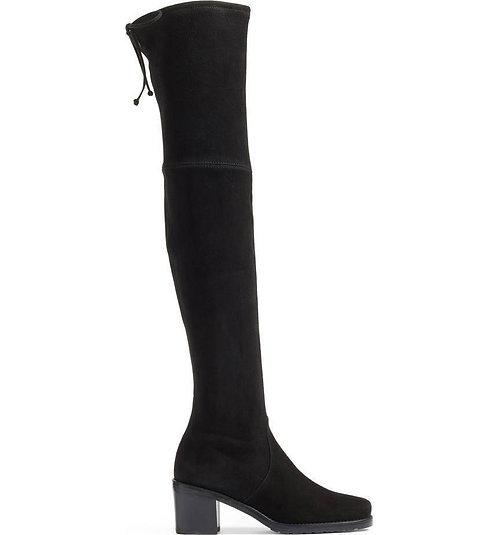 STUART WEITZMAN Black OTK Block Heel Boots 9