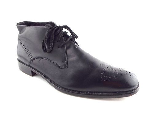 JOHN VARVATOS USA Black Leather Chukka Boots 11