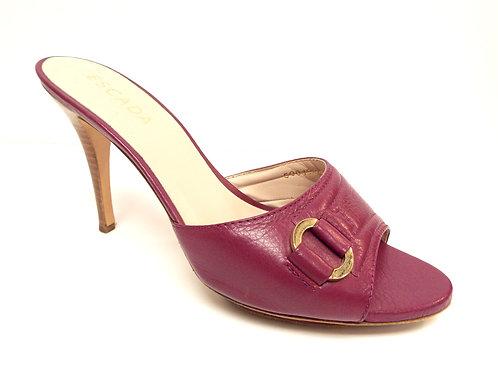 ESCADA Fuchsia Leather Slide Sandal 39 / 8.5