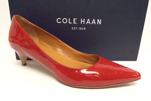 COLE HAAN Candy Red Patent Low Heel Pump 7 C