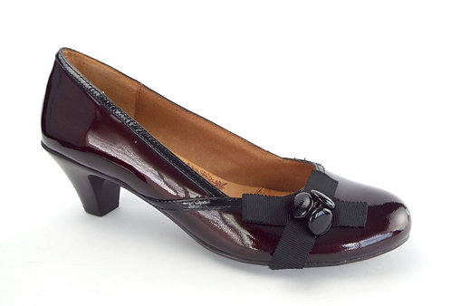 SOFFT Burgundy Patent Low Heel Pump 6.5