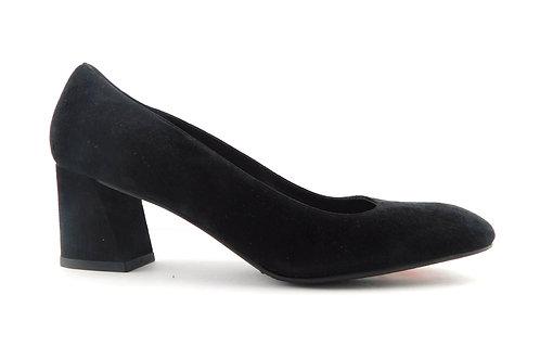 STUART WEITZMAN Marymid Black Suede Flared Heels 7.5