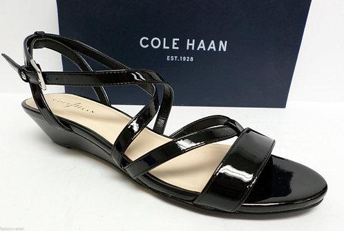 COLE HAAN Black Ankle Strap Sandals