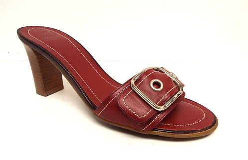 COACH NATALIE Red Leather Slide Sandal 6