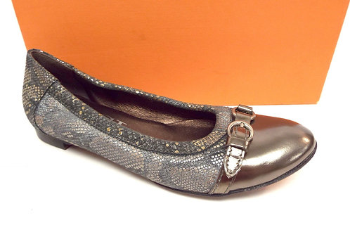 AGL Gray Metallic Ballet Flat 36.5