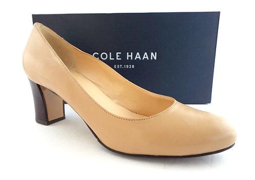 COLE HAAN Nude Leather Almond Toe Pumps 9