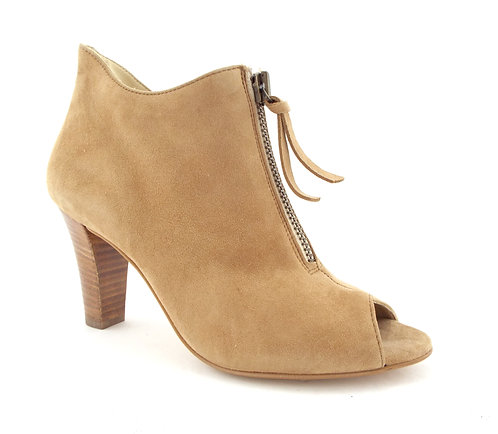 PAUL GREEN Front Zip Peep Toe Bootie 8.5US / 6UK