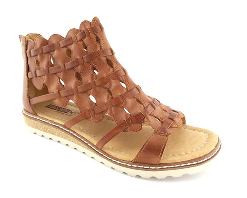 PIKOLINOS Brandy Woven Leather Ankle Sandal 39