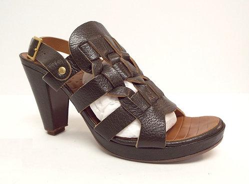 CHIE MIHARA Brown BERGUERA Ankle Strap Sandal 37.5 / 7.5