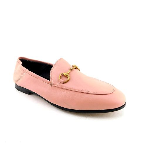 GUCCI Size 7 BRIXTON Pink Convertable Horse Bit Loafers Flats Shoes 37 Eur