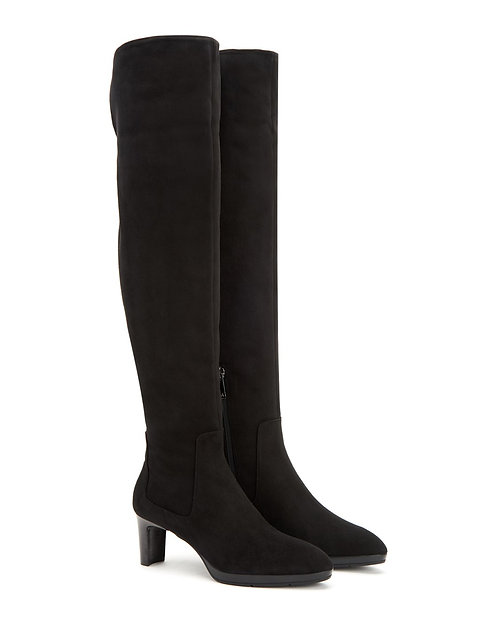 AQUATALIA Black Weatherproof OTK Tall Boot 8.5