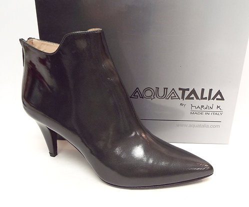 AQUATALIA Textured Gray Waterproof Ankle Boot 10