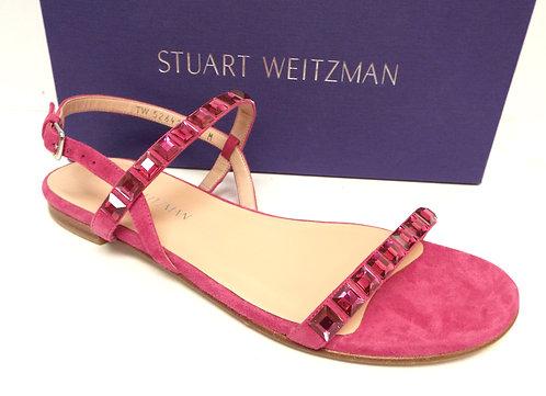 STUART WEITZMAN TRAILMIX Hot Pink Sandal 8.5