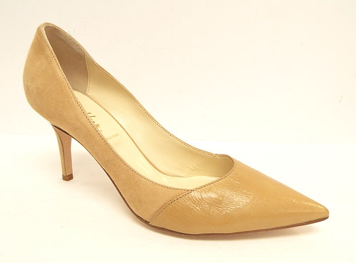 BUTTER Nude Leather & Suede Pointed Pump 10