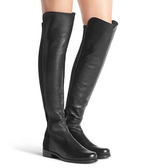 STUART WEITZMAN Black Leather OTK Boots 8.5