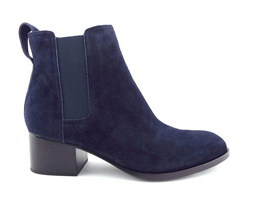 RAG&BONE Navy Blue Suede Block Heel Booties 38