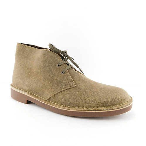 CLARKS Size 13 BUSHACRE 2 15522 Taupe Waxed Suede Desert Boots