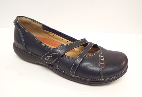 CLARKS Unstructured Navy Blue Ballet Flat 6.5 C