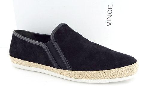 VINCE ACKER Black Suede Slip On Sneakers 11 / 41