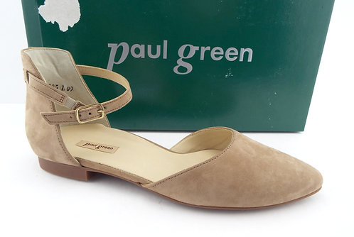 PAUL GREEN Sisal Nubuck Leather Flat US8.5/UK6