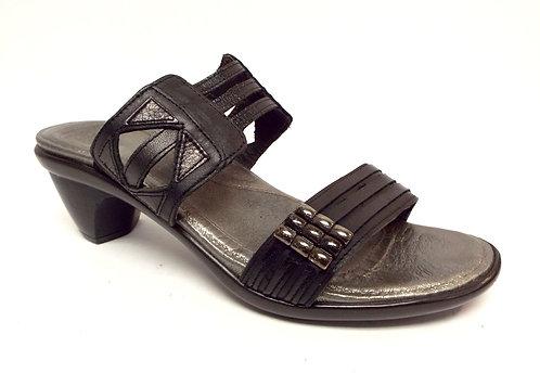 NAOT Black Leather Slide Sandal 37